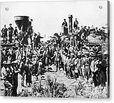 Railroading Acrylic Print by Granger