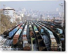 Railway Depot, Russia Acrylic Print by RIA Novosti