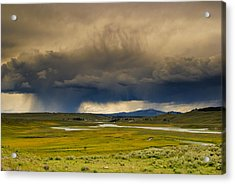 Rain Sky Acrylic Print by Patrick  Flynn