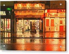 Rain Town Acrylic Print