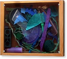 Rainbow Beach Box II Acrylic Print by Adam Kissel