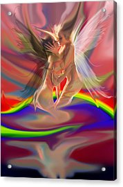 Rainbow Fairies Acrylic Print