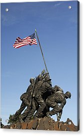 Raising The Flag On Iwo - 799 Acrylic Print by Paul W Faust -  Impressions of Light