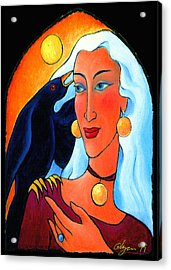 Raven Speaks Acrylic Print