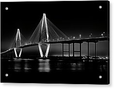 Acrylic Print featuring the photograph Ravenel Bridge by Bill Barber
