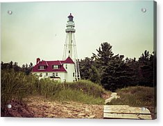 Acrylic Print featuring the photograph Rawley Point Lighthouse by Joel Witmeyer