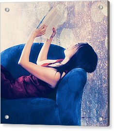 Reading Acrylic Print by Joana Kruse
