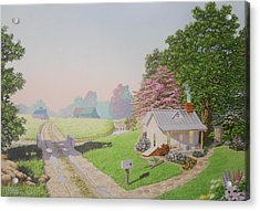 Rebeccas Cottage Acrylic Print