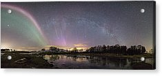 Red And Green Auroras Acrylic Print by Frank Olsen