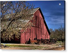 Acrylic Print featuring the photograph Red Barn by Jim and Emily Bush