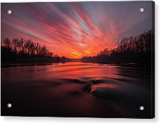 Acrylic Print featuring the photograph Red Dusk by Davorin Mance