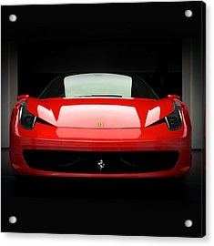 Red Ferrari 458 Acrylic Print by Matt Malloy