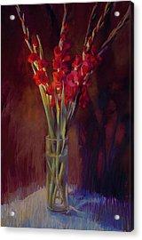 Red Gladiolus Acrylic Print by Cathy Locke