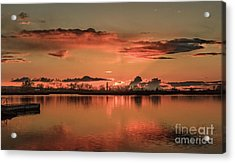 Red Glow Acrylic Print by Robert Bales