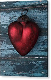 Red Heart Acrylic Print by Nailia Schwarz