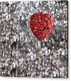 Acrylic Print featuring the photograph Red Heart by Ulrich Schade