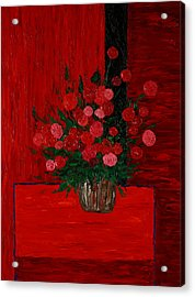 Red On Red On Red Acrylic Print by Timothy Clayton
