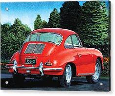 Red Porsche 356c Acrylic Print