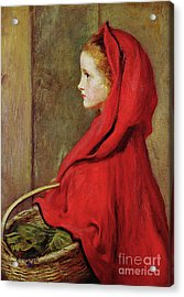 Red Riding Hood Acrylic Print by John Everett Millais