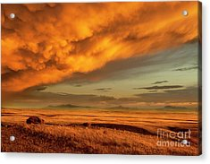 Red Rock Coulee Sunset 1 Acrylic Print