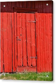 Red Shed Acrylic Print by Lutz Baar