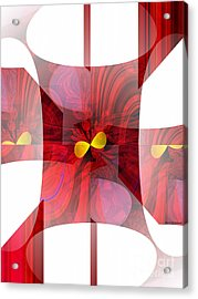 Red Transparency  Acrylic Print by Thibault Toussaint