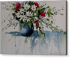 Red White And Blue Bouquet Acrylic Print