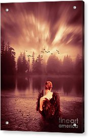 Reflection Acrylic Print by KaFra Art