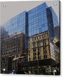 Reflections Of Montreal Acrylic Print by Reb Frost