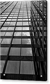Reflective Glass And Metal Building Acrylic Print by Robert Ullmann