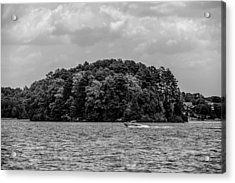 Relaxing On Lake Keowee In South Carolina Acrylic Print by Alex Grichenko