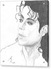 Remembering Michael Acrylic Print by Josh Bennett