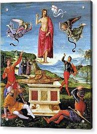 Resurrection Of Christ Acrylic Print by Raffaello Sanzio