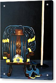 Acrylic Print featuring the painting Retiring Firefighter by Susan Roberts