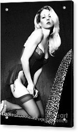 Retro Pinup Acrylic Print by Clayton Bruster