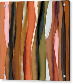 Acrylic Print featuring the painting Ribbons by Bonnie Bruno