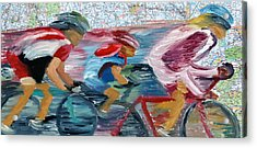 Riding The Roads Acrylic Print by Michael Lee