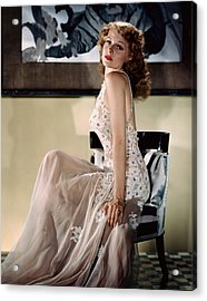 Rita Hayworth, Ca. 1940s Acrylic Print by Everett