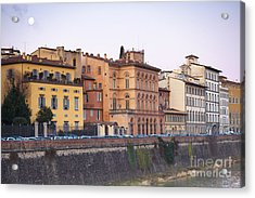 River In Florence Acrylic Print by Andre Goncalves