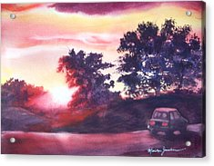 Road To Fargo Acrylic Print by Marilyn Jacobson
