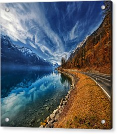 Road To No Regret Acrylic Print by Philippe Sainte-Laudy