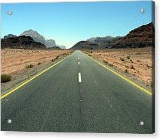 Road To Wadi Acrylic Print by James Lukashenko