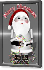 Robo-x9 Wishes A Merry Christmas Acrylic Print