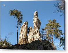 Acrylic Print featuring the photograph Rock Formations In The Bohemian Paradise Geopark by Michal Boubin