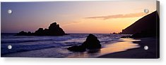 Rock Formations On The Beach, Pfeiffer Acrylic Print