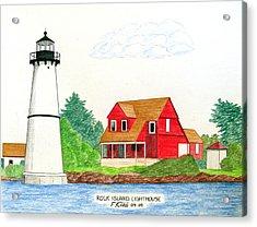 Rock Island Lighthouse Acrylic Print by Frederic Kohli