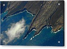 Rocky Hawaiian Coastline Acrylic Print by Elizabeth Hoskinson
