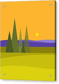 Acrylic Print featuring the digital art Rolling Hills by Val Arie