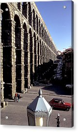 Roman Aquaduct In Segovia Acrylic Print by Carl Purcell