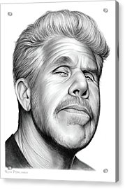 Ron Perlman Acrylic Print by Greg Joens